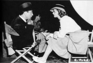 Humphrey-Bogart-and-Ingrid-Bergman-on-the-set-of-Casablanca-1942 3